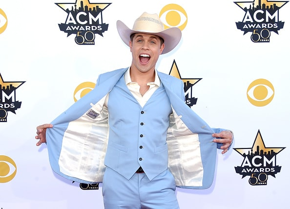 ARLINGTON, TX - APRIL 19:  Singer Dustin Lynch attends the 50th Academy of Country Music Awards at AT&T Stadium on April 19, 2015 in Arlington, Texas.  (Photo by Jason Merritt/Getty Images)